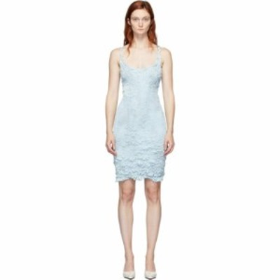 ガントレットチェン Gauntlett Cheng レディース ワンピース ワンピース・ドレス blue snakeskin dress Light blue