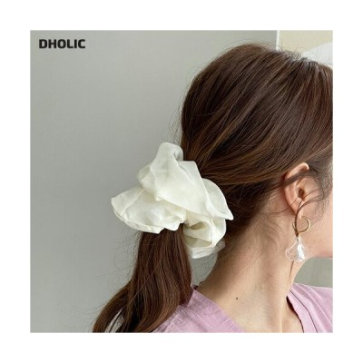 ヘアアクセサリー シュシュ ソリッド 単色 無地 シンプル ヘアゴム ラフ ボリューム 可愛い かわいい 韓国 ファッション
