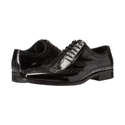 Stacy Adams ステーシーアダムス メンズ 男性用 シューズ 靴 オックスフォード 紳士靴 通勤靴 Tinsley Wingtip Oxford - Black