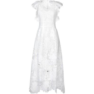 ANTIK BATIK ロングワンピース&ドレス ホワイト 38 ポリエステル 100% ロングワンピース&ドレス