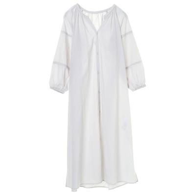 エスニック風袖刺繍ガウンワンピース