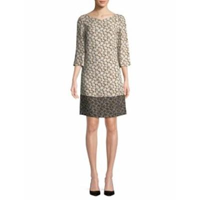 ピアッツァ センピオーネ レディース ワンピース Patterned Silk-Blend Shift Dress