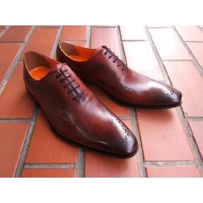 アントニオ ドュカッティ/ANTONIO DUCATI紳士靴 DC1174 ワイン メダリオン スクエアトゥ 送料無料
