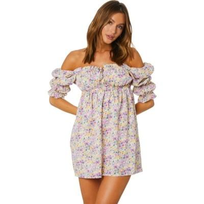 サンディー Sndys レディース パーティードレス ワンピース・ドレス Sicily Dress Liliac floral