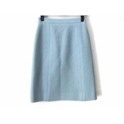 シャネル CHANEL スカート サイズ36 S レディース - PP08918 ライトブルー ひざ丈/ツイード【中古】20210202