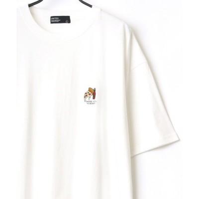 tシャツ Tシャツ Pizza Drink ワンポイント 刺繍 ビッグシルエット Tシャツ