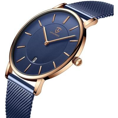 腕時計、メンズ腕時計 極薄型 シンプル カジュアル ファッション ユニセックス アナログ クォーツ 日付表示 防水腕時計