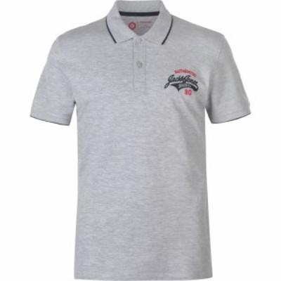 ジャックandジョーンズ Jack and Jones メンズ ポロシャツ トップス Core Heritage Polo Shirt Light Grey Marl