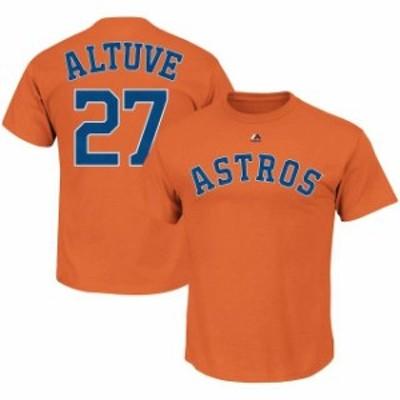 Majestic マジェスティック スポーツ用品  Majestic Jose Altuve Houston Astros Orange Name & Number T-Shirt