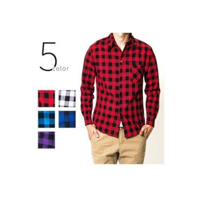長袖シャツ カジュアル チェックシャツ 全5色 M〜XXLサイズ メンズ