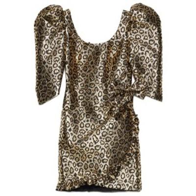 ALESSANDRA RICH/アレッサンドラ リッチ Gold Lurex animalier jaquard dress レディース 春夏2020 FAB2155F275832 ju