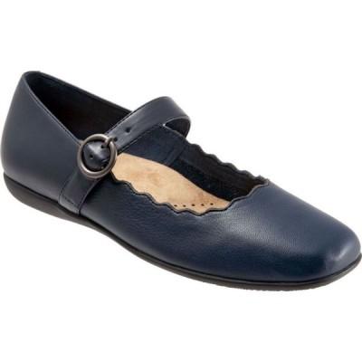 トロッターズ Trotters レディース スリッポン・フラット シューズ・靴 Sugar Mary Jane Flat Navy