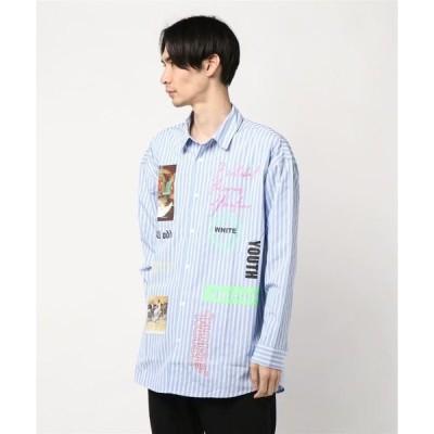 シャツ ブラウス ストライプシャツ