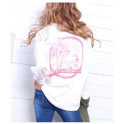 【anap mimpi】 フロントバックプリントロングTシャツ