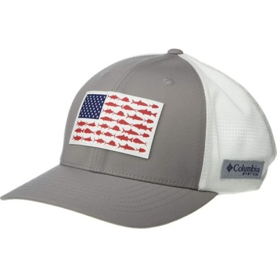コロンビア Columbia レディース キャップ 帽子 PFG Signature 110(TM) II Ball Cap Cool Grey/US Fish Flag