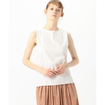 tシャツ Tシャツ v::room コットン ジャージーノースリーブプルオーバー