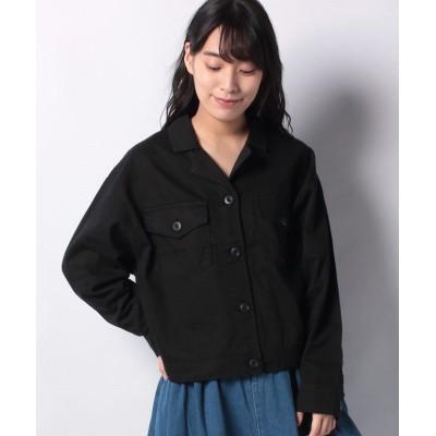 【スタイルブロック】 オープンカラー開襟アウトドアシャツ レディース ブラック M STYLEBLOCK