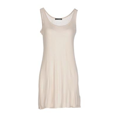 リュー ジョー LIU •JO ミニワンピース&ドレス ベージュ 46 レーヨン 100% ミニワンピース&ドレス