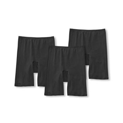 抗菌防臭加工・むれにくい 綿混ストレッチ3分丈オーバーサニタリーパンツ3枚組(M) サニタリー(生理用ショーツ)Panties