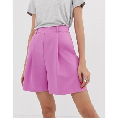 エイソス レディース カジュアルパンツ ボトムス ASOS DESIGN mom shorts in pink Pink