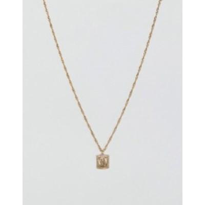 エイソス メンズ ネックレス・チョーカー アクセサリー ASOS DESIGN sovereign medallion necklace in gold tone Gold