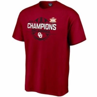 Blue 84 ブルー エイティーフォー スポーツ用品  Blue 84 Oklahoma Sooners Crimson 2018 Big 12 Football Champions Locker Room T-Shir