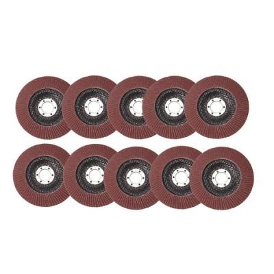 10個125mm 40-120グリットサンディングフラップディスクメタル研削角度研削盤ホイール