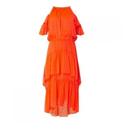 ビバ Biba レディース ワンピース マキシ丈 ワンピース・ドレス Ruffle Maxi Dress Neon Orange