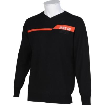 (le coq sportif GOLF/ルコックスポルティフゴルフ)プレーティングニットセーター/メンズ ブラック系