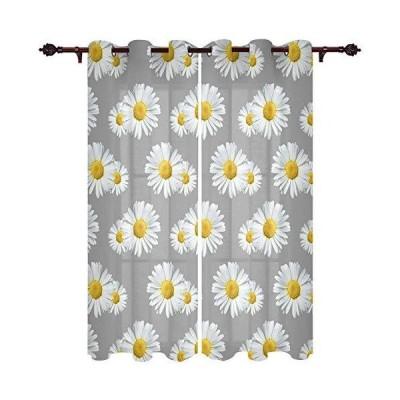 カーテン Kitchen Blackout Curtains Panels Window Treatments for Living Room Bedroom Insulated Grommet Window Curtains and Drapes,White D