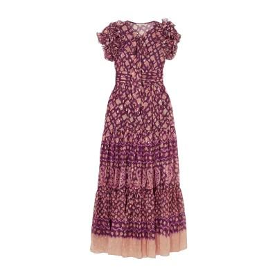 ULLA JOHNSON ロングワンピース&ドレス ディープパープル 0 シルク 85% / ポリエステル 15% ロングワンピース&ドレス