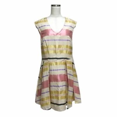 NOSHUA ノシュア イタリア製 ボーダードレープワンピース (半袖 ドレス) 116438【中古】