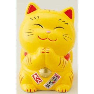 幸せ招き猫宝くじ入れ 大 とら(貯金箱)