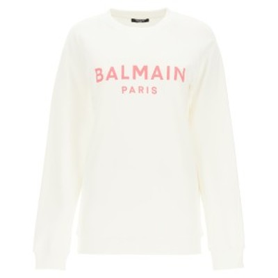 BALMAIN/バルマン トレーナー BLANC ROSE Balmain sweatshirt with logo print レディース 春夏2021 VF13691B002 ik