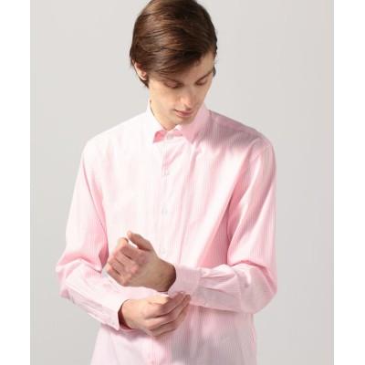 【トゥモローランド】 コットンドビーストライプ ワンピースボタンダウンカラーシャツ メンズ 34ピンク系 S TOMORROWLAND