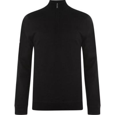 キャロウェイ Callaway メンズ スウェット・トレーナー トップス Lined Zip Sweatshirt Black