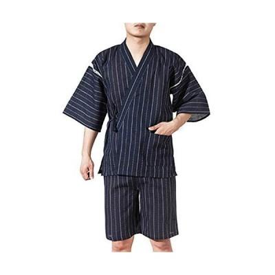 メンズ 甚平 上下セット しじら織り じんべい 紳士 男性 浴衣 和装 涼やかな 綿麻 夏用 パジャマ 部屋着 お祭り