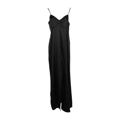 メッサジェリエ MESSAGERIE ロングワンピース&ドレス ブラック 42 ポリエステル 97% / ポリウレタン 3% ロングワンピース&ドレス