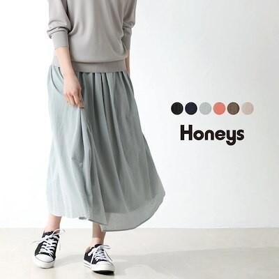 綿ギャザースカート SALE スカート ギャザースカート コットン 綿 無地 ウエストゴム