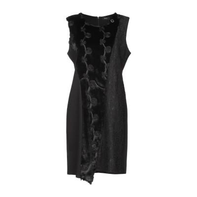 MANGANO ミニワンピース&ドレス ブラック S/M ポリエステル 100% / レーヨン / ナイロン / ポリウレタン ミニワンピース&ドレス
