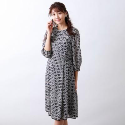 フレームプリントドレス