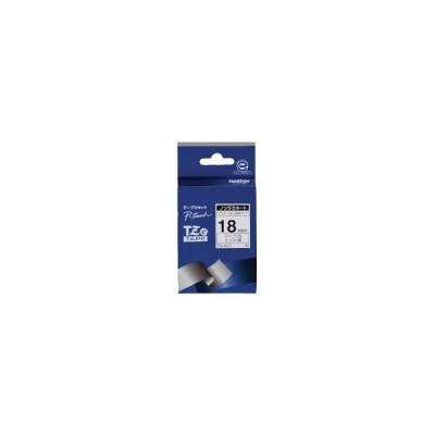 ブラザー TZeテープ ピータッチ専用テープ(ノンラミネートテープ/白テープ/黒字) 18mm幅×長さ8m(TZE-N241)