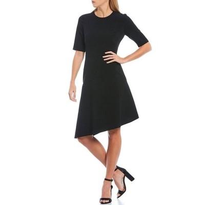 ギャルミーツグラム レディース ワンピース トップス Luna Crepe Asymmetrical Hem Dress