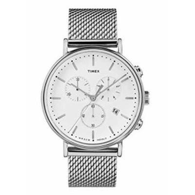 特別価格送料無料Timex TW2R27100 Fairfield Mens Watch Silver-Tone 41mm Low Lead Brass好評販売中