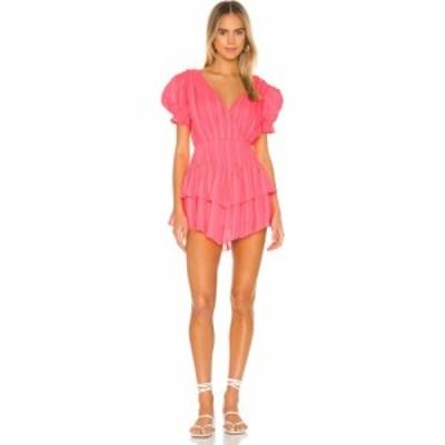 エルピーエー LPA レディース オールインワン ワンピース・ドレス Alexandra Romper Neon Pink