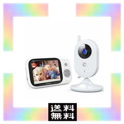 Victure ベビーモニター 遠隔監視 双方向音声通信 カメラ 見守りカメラ 暗視機能付き 子守唄内蔵 多機能付き 360度回転 ベビーカメラ 介護