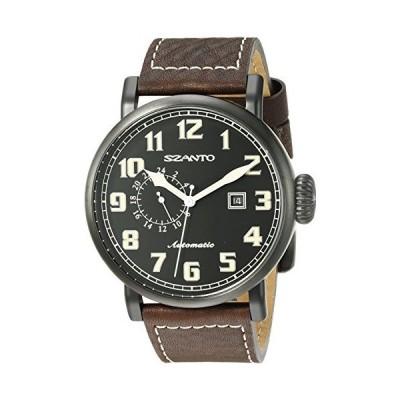 Szanto Men's SZ 6102 Aviator Automatic Analog Display Japanese Automatic Brown Watch 並行輸入品