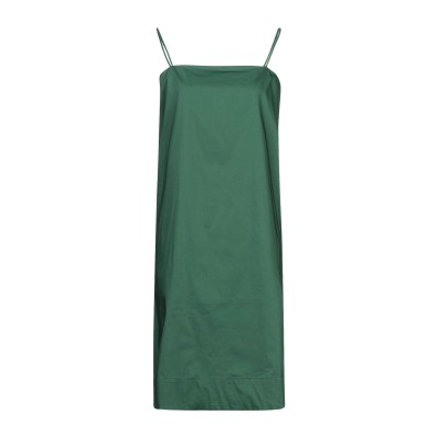 リビアナ コンティ LIVIANA CONTI ミニワンピース&ドレス グリーン 44 コットン 68% / ナイロン 28% / ポリウレタン 4