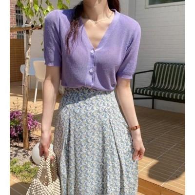 monodaily レディース ニット/セーター Mui Linen Short Sleeve Knitwear