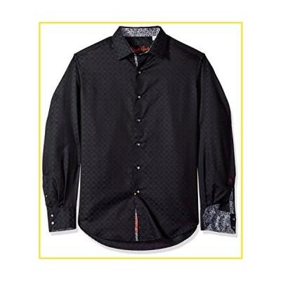 新品Robert Graham Men's Diamante Long Sleeve Shirt, Black, Small並行輸入品